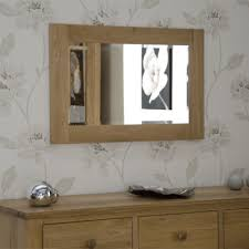 opus oak small wall mirror 90cm x 60cm aston solid oak wall mirror