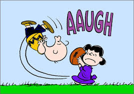 Image result for lucy charlie brown football