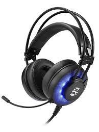 Skiller SGH2 чёрная <b>игровая гарнитура</b> (USB, 50 мм, синяя ...