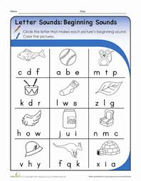 Letter Sounds: Beginning Sounds | Worksheet | Education.comKindergarten Phonics Worksheets: Letter Sounds: Beginning Sounds. Download Worksheet
