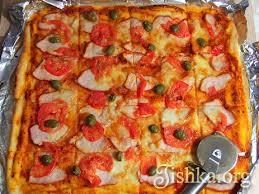 Домашняя пицца (на тонком тесте) - Кулинарные пошаговые ...