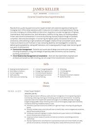 construction worker cv example construction superintendent resume examples