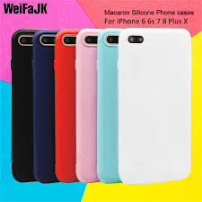 WeiFaJK <b>Color</b> TPU Matte Phone Case For iPhone 7 8 Plus 6 6s ...