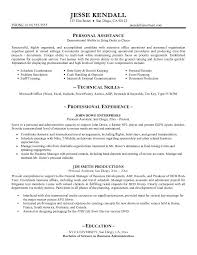 assistant resume skills personal assistant  seangarrette copersonal assistant resume templates template builder gdzmid