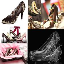 <b>New 1PC Fashion</b> 3D DIY High Heel Shoe Chocolate Mould Candy ...