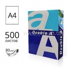 Офисная <b>бумага Double A</b>, формата А4, массой 80г/м2 - 500 ...