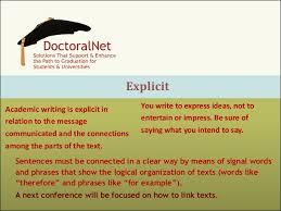 Explicit Academic writing     SlideShare