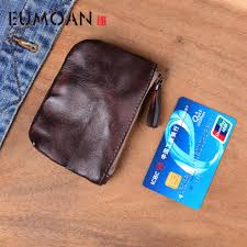 <b>EUMOAN Original</b> retro handmade <b>leather</b> short wallet <b>leather</b> small ...
