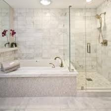 free standing shower and spa tub in bathroom with recessed lighting ample shower lighting