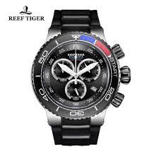 <b>Reef Tiger</b>/<b>RT</b> Luxury Sport <b>Watches</b> for Men Rubber Strap Steel ...