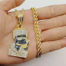 New Hot Gold Stainless Steel <b>Monkey Rhinestone Hip Hop</b> Rock ...