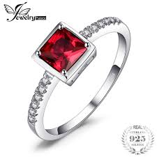 <b>JewelryPalace</b> Pigeon Blood Ruby Ring Solid 925 Sterling Silver ...