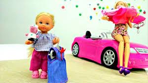Барби и Штеффи в магазине. Платья для Барби. Одевалки ...