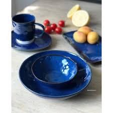 Купить <b>Тарелка закусочная</b> (синяя) Interiors от <b>Easy</b> Life арт. EL ...