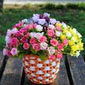 2 шт./компл. S/L круглая плетеная Цветочная <b>корзина</b> цветочный ...