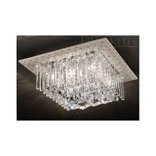 ceiling lights square uk cascata cf square crystal flush ceiling light lovelighting