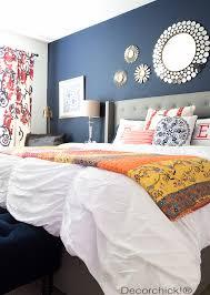 navy and orange bedroom refresh decorchick bhg bedroom ideas master