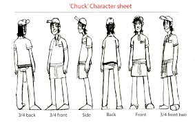 research and development level mart thomas gamble character sheets researching existing examples i tackled the two characters model sheets paying attention to detail and trying my best to match the little details and