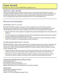 resume for teacher aide position   resumeseed comprofessional preschool teacher resume