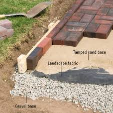 stone patio installation: how to install pavers sunset p scm   how to install pavers sunset