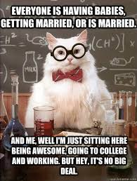 Everyone is having babies, getting married, or is married. And me ... via Relatably.com