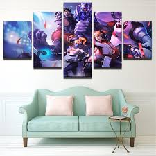 <b>5 Pieces Cartoon</b> Game Characters For Living Room Canvas ...