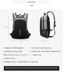 Backpacks <b>Men Multifunction USB Charging</b> 15.6inch Laptop ...