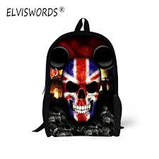 <b>ELVISWORDS</b> Cool Skull Print <b>Children School</b> Bags Boy Style <b>Kids</b> ...