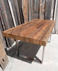 stylish distressed dining table bench wood