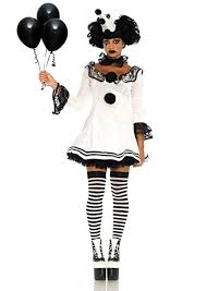Leg Avenue Women's Black and White Sad Pierrot ... - Amazon.com