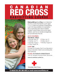 canadian red cross babysitting course at st andrew s united canadian red cross babysitting course at st andrew s united church >