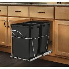 cabinet door mounted trash kitchen