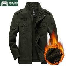 NIANJEEP <b>Jackets Men Spring</b> Autumn <b>Military Jacket</b> Plus Size ...
