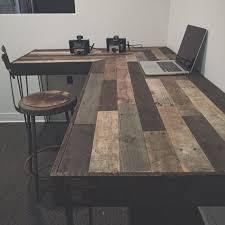 rustique en forme de l bureau fabriqu partir de bois rcupr build rustic office desk