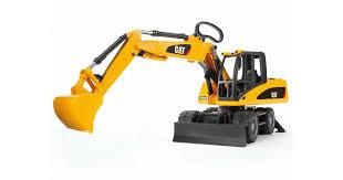 <b>Игрушка Bruder экскаватор</b> колёсный <b>CAT</b> с отвалом (02445 ...