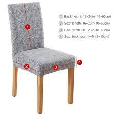 <b>Dining Chair</b> Slipcovers Beige Yellow/Monochrome Polar Fleece, <b>4</b> ...