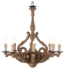 castille rustic carved wood european 8 light chandelier traditional chandeliers amazing wooden chandelier