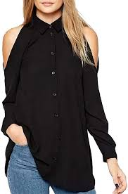 kemilove Womens <b>Casual</b> T-Shirt Long Sleeve <b>Button Cowl Neck</b> ...
