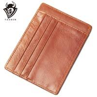 3 Colors Genuine <b>Leather</b> Zipper Business Card Holder Wallet ...