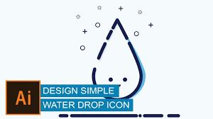 illustrator tutorial | <b>design Simple Water Drop</b> Icon - YouTube