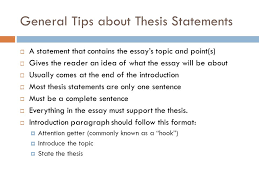 easy steps to a great thesis a thesis statement can be  the