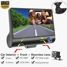 FHD 1080P Night Vision 360° <b>3 Lens</b> Dual Dash <b>WDR</b> Cam Car ...