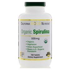 California Gold Nutrition, Organic <b>Spirulina</b>, USDA Certified, <b>500</b> mg ...