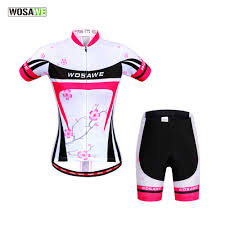<b>WOSAWE</b> Pro Team Short Sleeve <b>Cycling Jerseys</b> Set Female ...