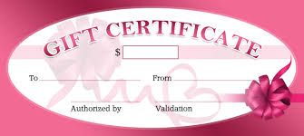 business gift certificates for all events professional gift certificate