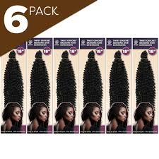 "6 Pack 18"" <b>Spring Twist Crochet Braiding</b> Hair, Synthetic Hair ..."