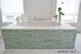 modern pedestal sink bathroom contemporary with artistic tile stone mosaic avant garde faucet