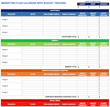 marketing calendar templates for excel smartsheet use this marketing plan calendar template to outline your marketing strategies and action steps while keeping close track of your budget