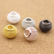 <b>10pcs</b>/lot <b>Gold</b>/<b>Silver</b>/<b>Rose</b> Gold/Rhodium/Gunmetal Color Big Hole ...