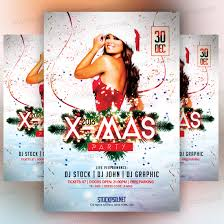 x mas party 2016 bie psd flyer stockpsd net
